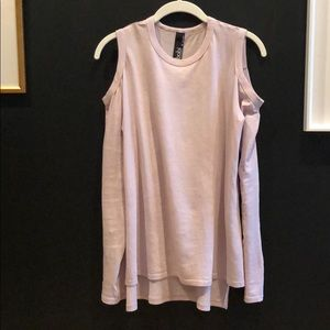 This super soft lavender knit top.